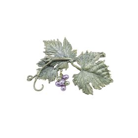 Michael Michaud Grape Vines Brooch