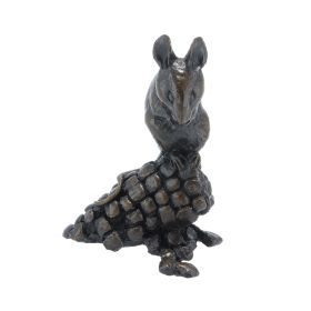 Limited Edition Bronze Mouse With Corn