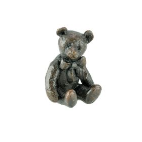 Bronze Bear With Bow