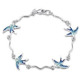 Sheila Fleet Silver Swallows Bracelet