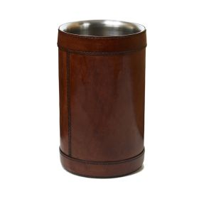 Tan Leather Wine Cooler