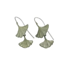 Michael Michaud Ginkgo Drop Earrings