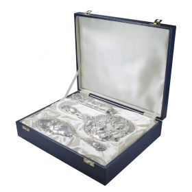 Pre-owned Sterling Silver Vanity Set