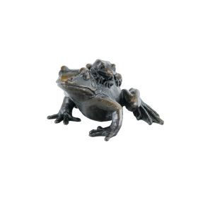 Limited Edition Bronze Frog With Baby