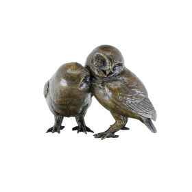 Limited Edition Bronze Pair Of Owls