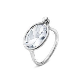 Georg Jensen Silver & Rock Crystal Savannah Ring