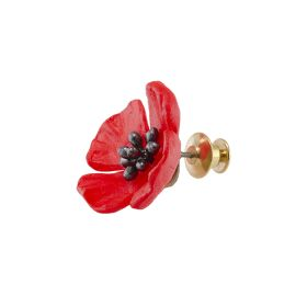 Michael Michaud Poppy Lapel Pin