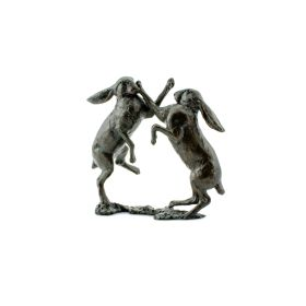 Limited Edition Bronze Hares Boxing