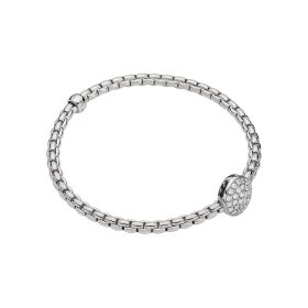 Fope 18ct White Gold & Diamond Flex'it Eka Tiny Bracelet
