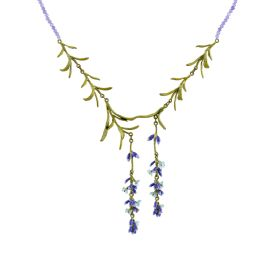 Michael Michaud Lavender Bead Necklace