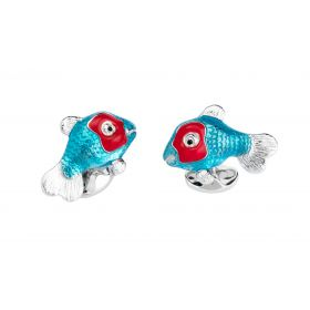 Silver Tropical Fish Cufflinks