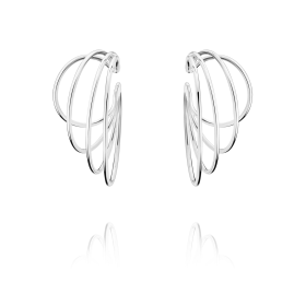 Georg Jensen Silver Alliance Earrings