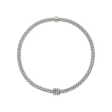 Fope 18ct White Gold & Diamond Flex'it Prima Bracelet