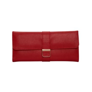 Wolf Designs Red Palermo Jewellery Roll