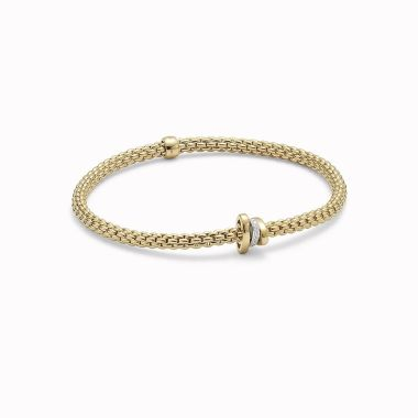 Fope 18ct Gold & Diamond Flex'it Prima Bracelet
