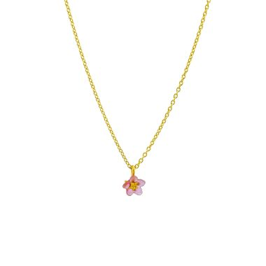 Michael Michaud Pink Forget Me Not Pendant